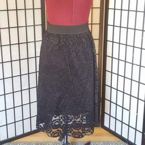 LuLaRoe Black Lace Lola XXS
